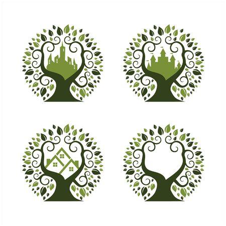 Stadtpark-Logo 4er-Set