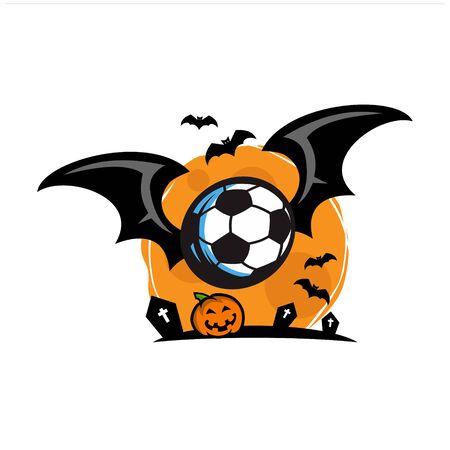 Football Halloween Theme Vector