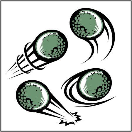 Golf swoosh set of 4