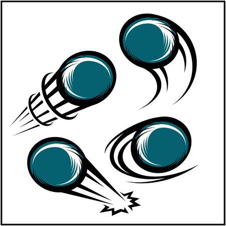 Bowling swoosh set of 4