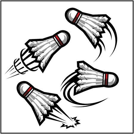 Badminton swoosh set of 4