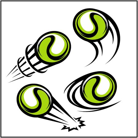 Tennis swoosh set of 4 写真素材 - 129994541