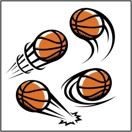 Basketball swoosh set of 4