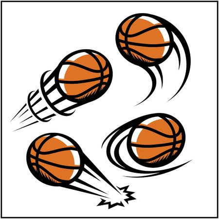 Swoosh de basket-ball lot de 4