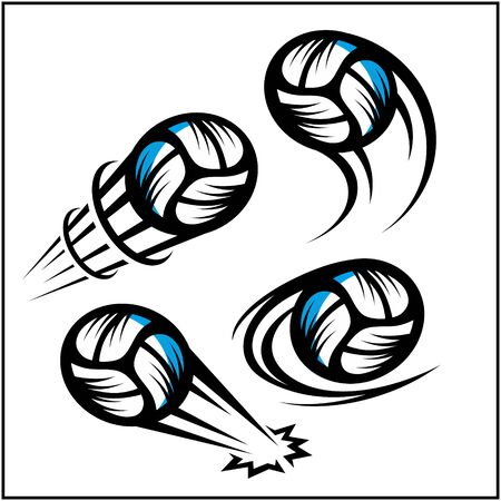 Volleyball swoosh set of 4