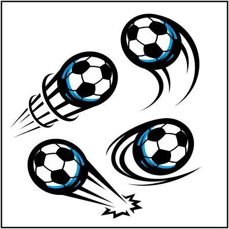 Soccer swoosh set of 4 Иллюстрация