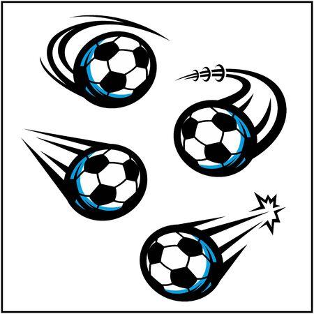 Soccer swoosh set of 4 Stock Illustratie