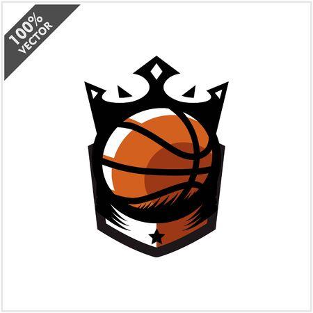 Basketball Ball King Logo Vector