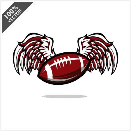 Football ball wing logo vector