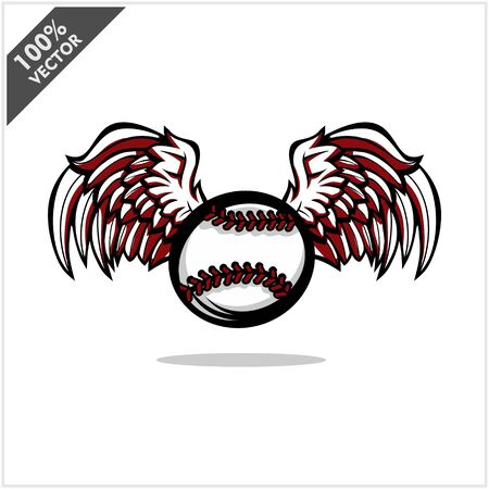 Baseball ball wing logo vector Archivio Fotografico - 130668827