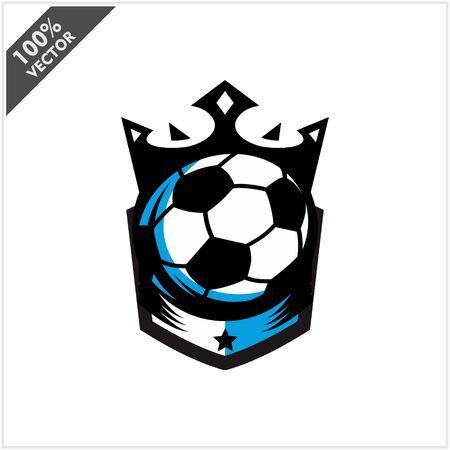 Soccer Ball King Logo Vector