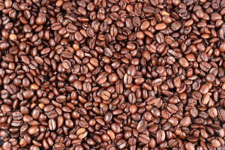 caffiene: Background of whole bean coffee