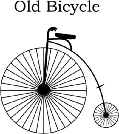 sportive: unicycle - old bicycle vector ilustration Illustration