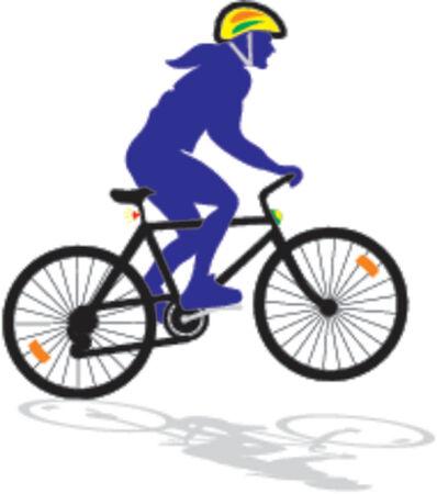 engineered: active biker - vector ilustration