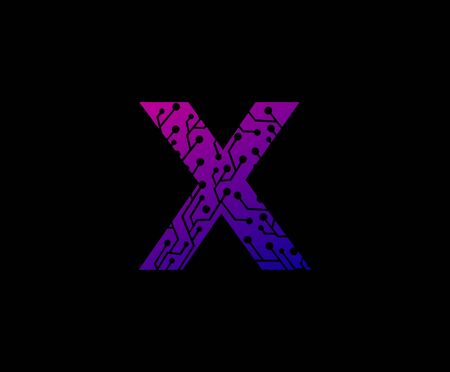 Letter X Digital Network Technology Logo Icon