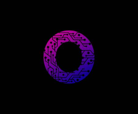 Letter O Digital Network Technology Logo Icon