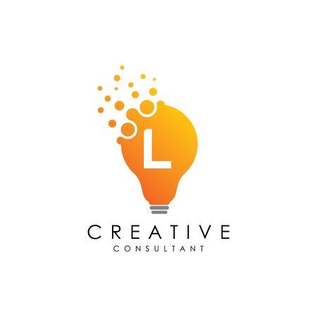 Creative L Lamp Letter Logo
