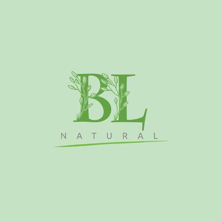 Green Nature BL Letter Logo