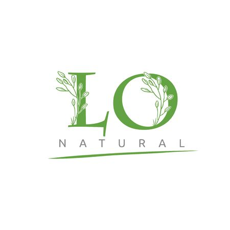 Nature LO Letter Flower Logo Design