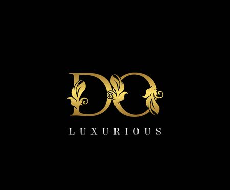 Premium letters D,O and DO logo icon vector design. Luxury decorative logotype. Print monogram initials stamp.