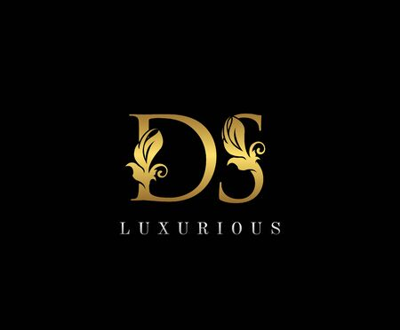 Premium letters D,S and DS logo icon vector design. Luxury decorative logotype. Print monogram initials stamp.