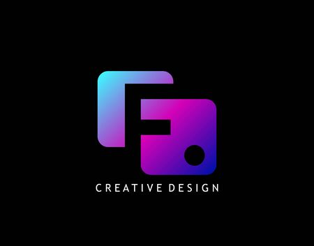 Creative Negative Space F Letter Logo, geometric shape design concept with initial F icon for technology, business, finance and more brand identity.
