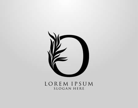 Letter O logo Nature Leaves Logo, alphabetical leaf icon. Logo