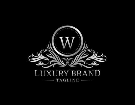 Vintage Monogram W Letter Vintage Logo template perfect for Restaurant, Royalty, Boutique, Cafe, Hotel, Heraldic, Jewelry, Fashion and other vector illustration
