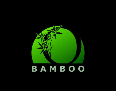 O Letter Green Bamboo Tree Logo Icon. Perfect for Hotel, Restaurant, Tour and Travel.