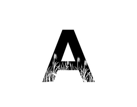 A Letter Logo With Grass or Reeds Inside.
