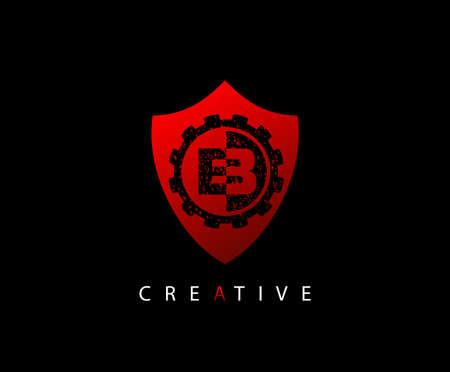 Abstract Shield Initial Letter B logo icon vector design concept. Logo