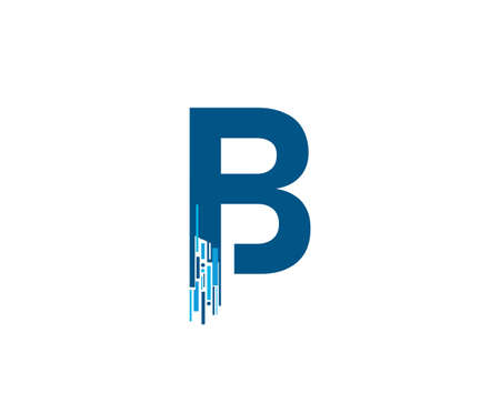 Letter B Digital Network , Technology and digital abstract line B network circuit vector  .