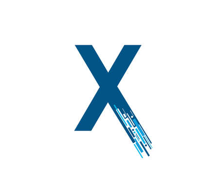 Letter X Digital Network , Technology and digital abstract line X network circuit vector .