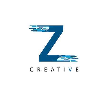 Letter Z Digital Network , Technology and digital abstract line Z network circuit vector .