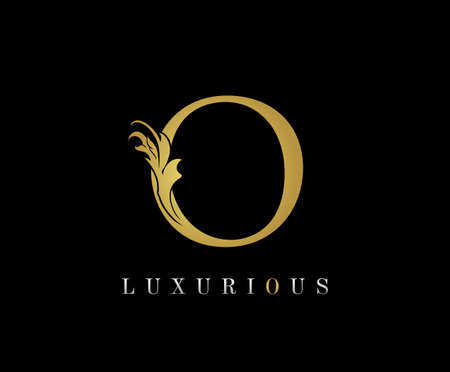 Golden O Luxury Logo Icon, Classic O Letter Logo Design.