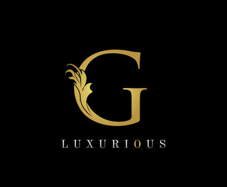 Golden G Luxury Logo Icon, Classic G Letter Logo Design. 向量圖像