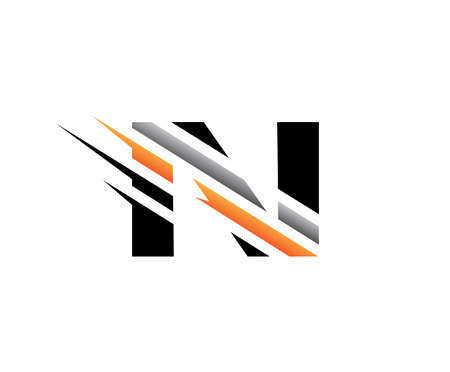 Abstract Initial Letter N Fast Technology logo icon vector design concept. 向量圖像