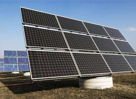 energies: solar panels - green energy Stock Photo