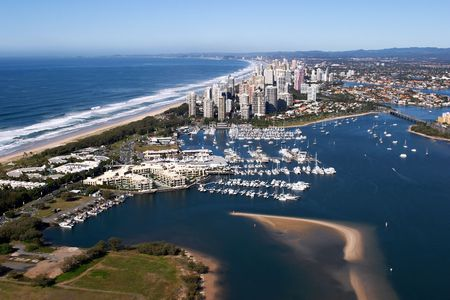 An aerial photograph of the Surfers Paradise Gold Coast Queensland Australia