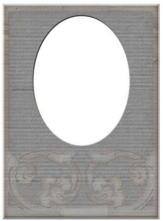 Vintage grey paper frame matte