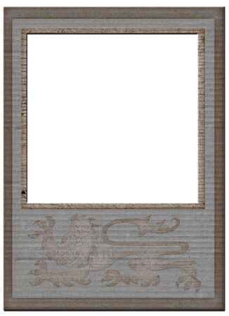 matte: Vintage grey paper frame matte