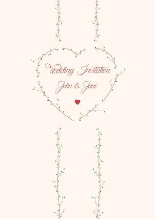 birds eye view: wedding invitation card