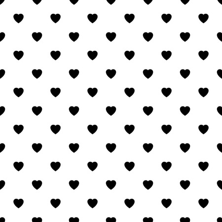 Seamless heart pattern easy to edit