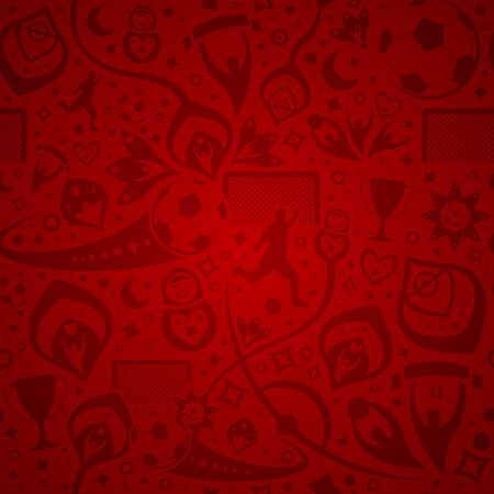 seamless red soccer background