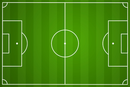Illustration of a green football field with white lines Vectores