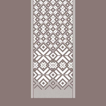 Traditional Baltic ornament belt. Folk traditions Векторная Иллюстрация