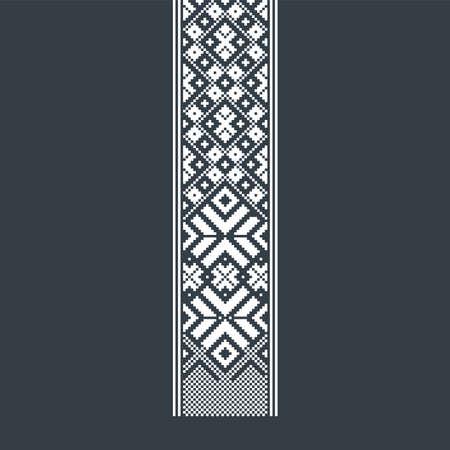 Traditional Baltic ornament belt. Folk traditions