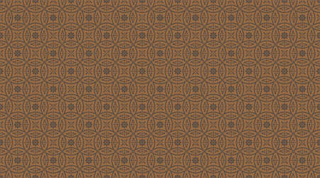 Abstract romanticism style seamless pattern with golden flowers on brown
