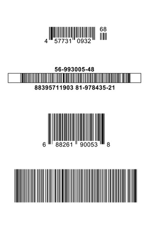 bar codes: Four Different Bar Codes Isolated on White Background.