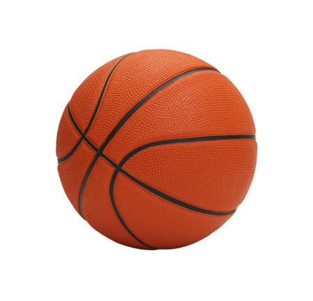 basketball shot: Orange Basketball Isolated on White Background.